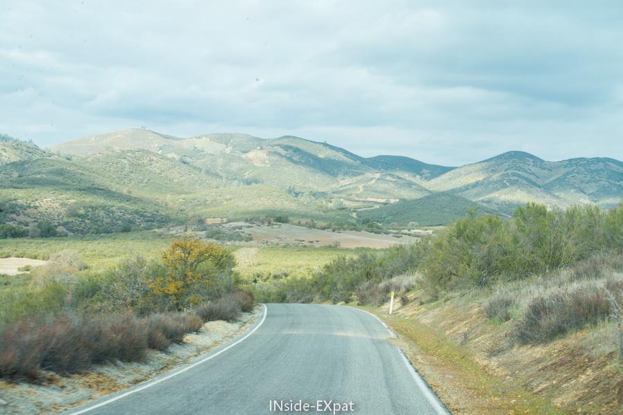 Sur la route de Pinnacles - entrée ouest