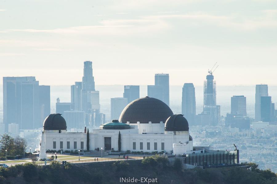 Zoom sur le Griffith Observatory