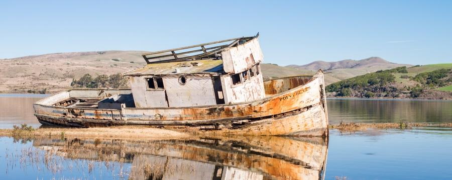 Epave de bateau à Point Reyes - Californie