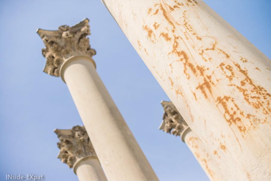 Les colonnes de près