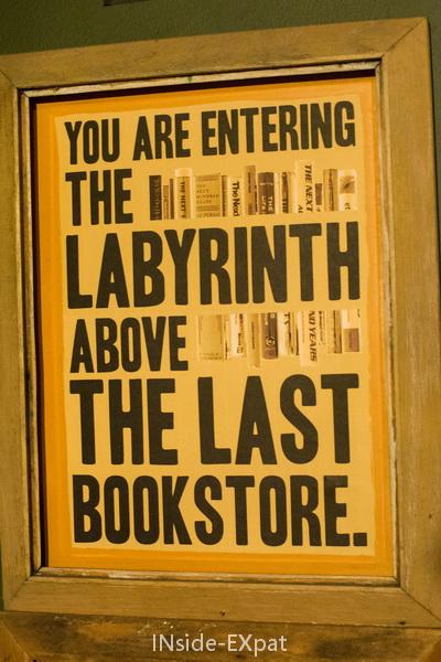 affiche rétro labyrinthe
