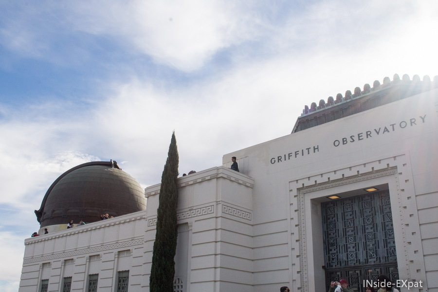 la façade du Griffith Observatory