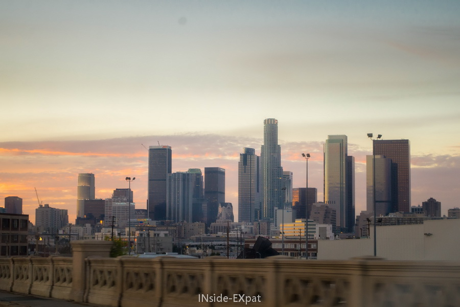 LA skyline - sunset