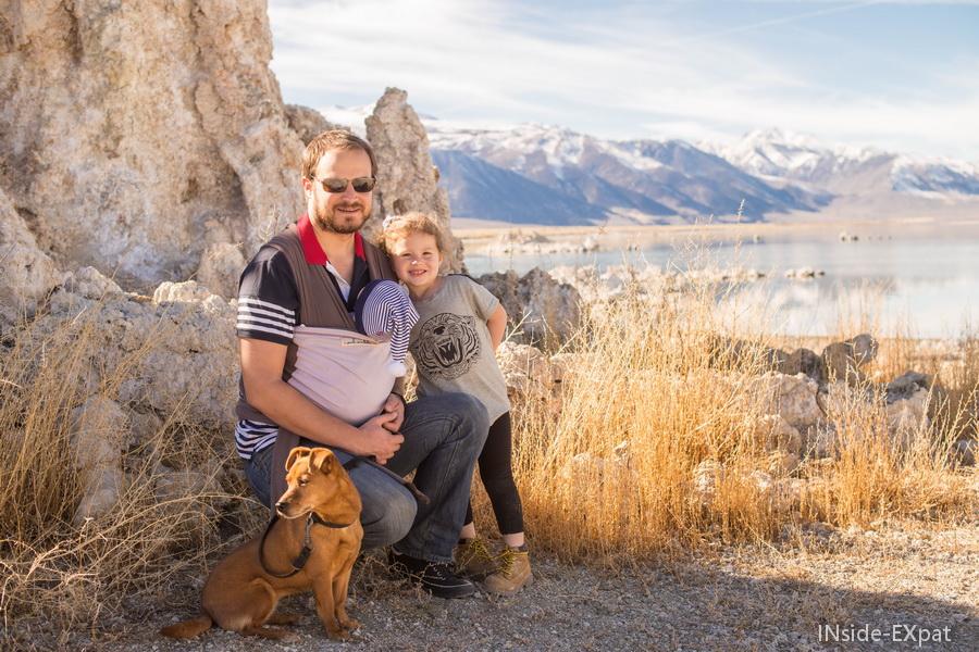 En famille à Mono Lake