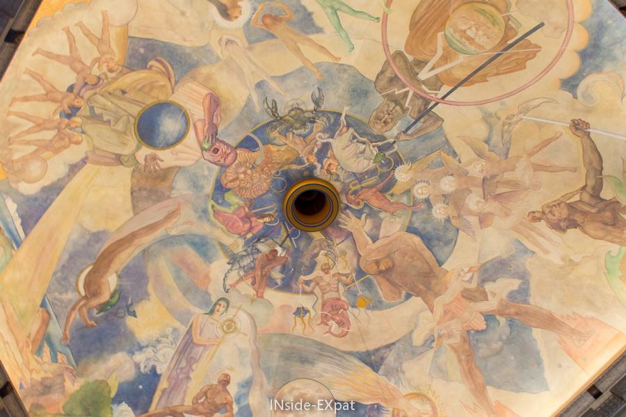 Fresque au plafond de l'Observatoire
