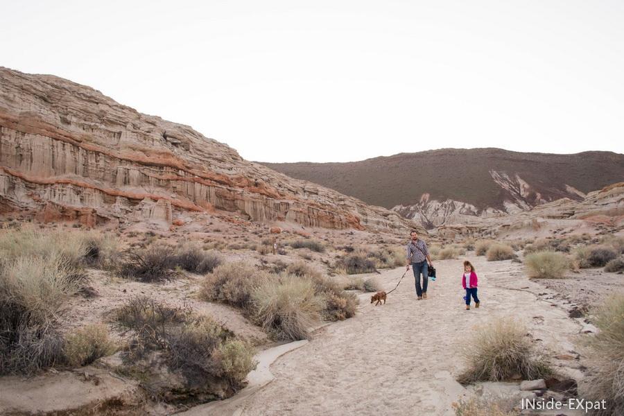 Red rock canyon SP au coucher du soleil