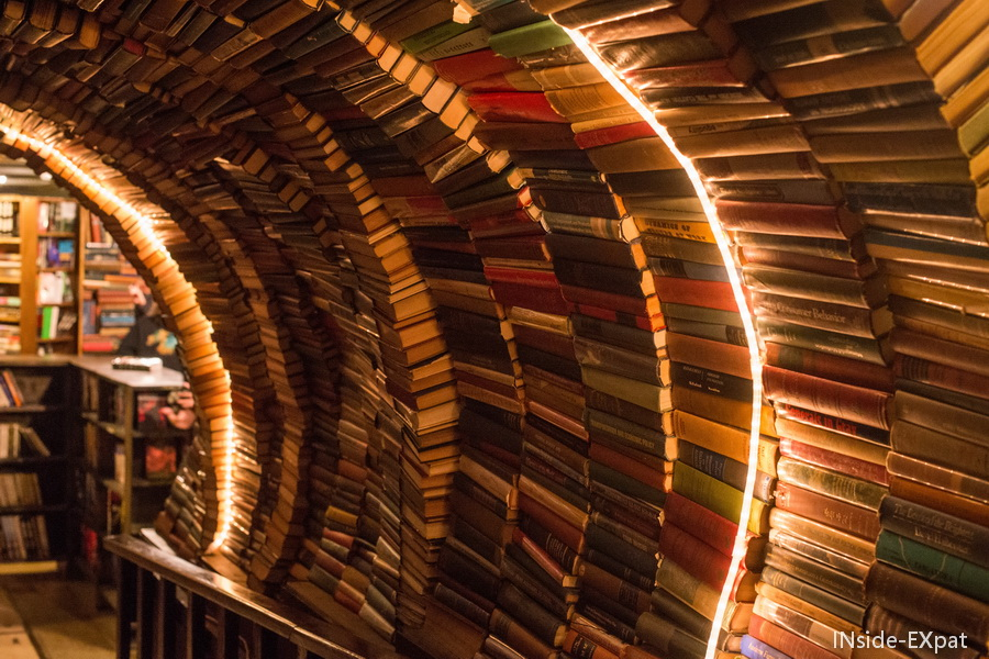 Tunnel de livres - The Last Bookstore - Los Angeles, CA