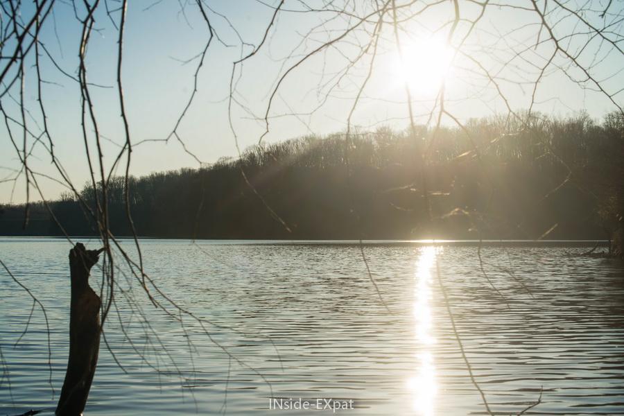 Soleil sur le Lake Frank