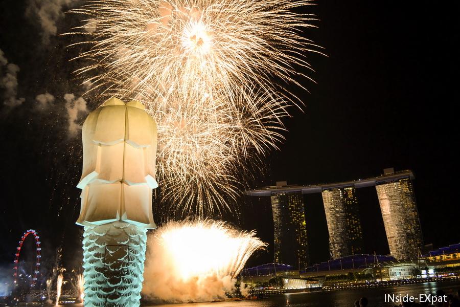 Feu d'artifice Singapour
