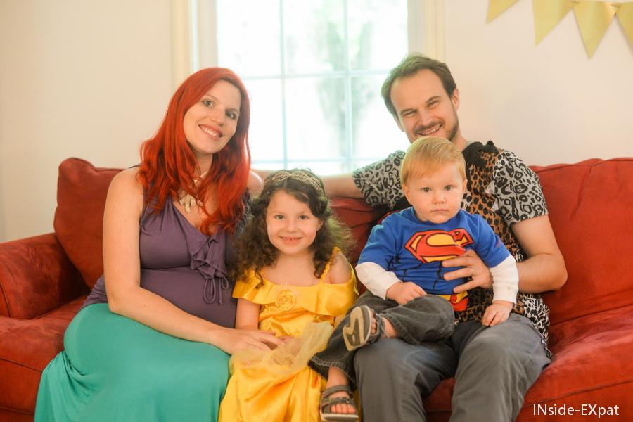 La B Family déguisée