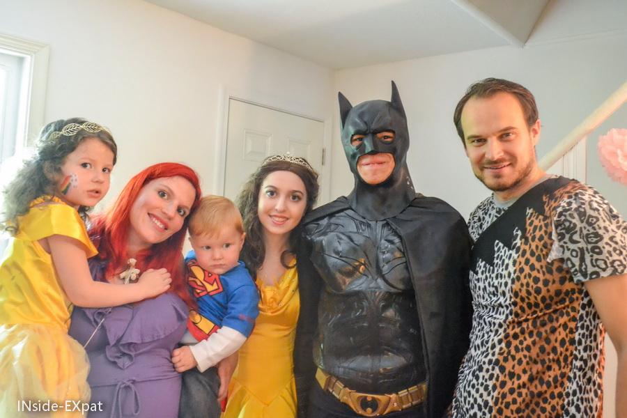 La B Family avec Belle et Batman