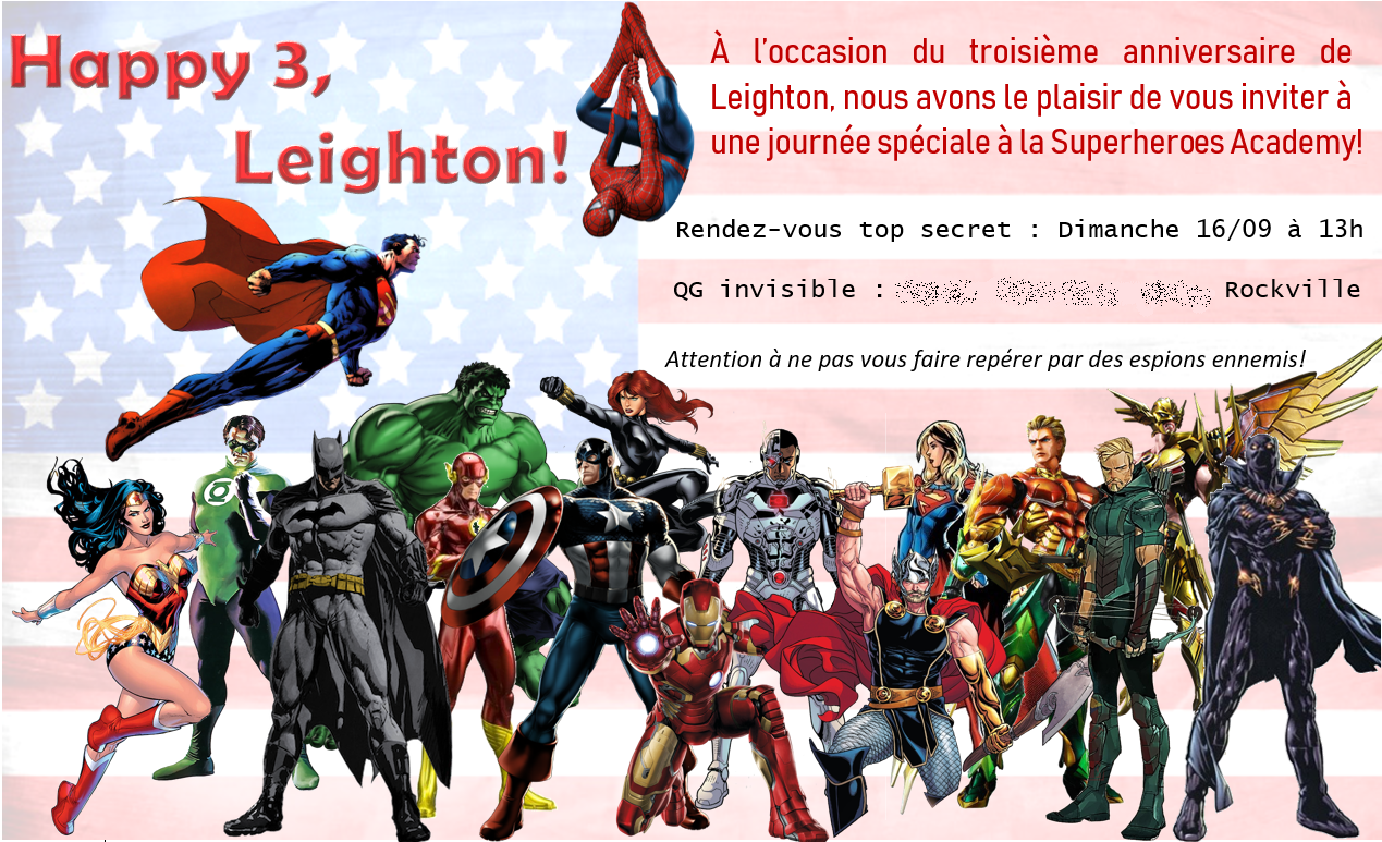 invitation anniversaire thème super héros