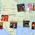 Carte du road trip musical aux Etats-Unis